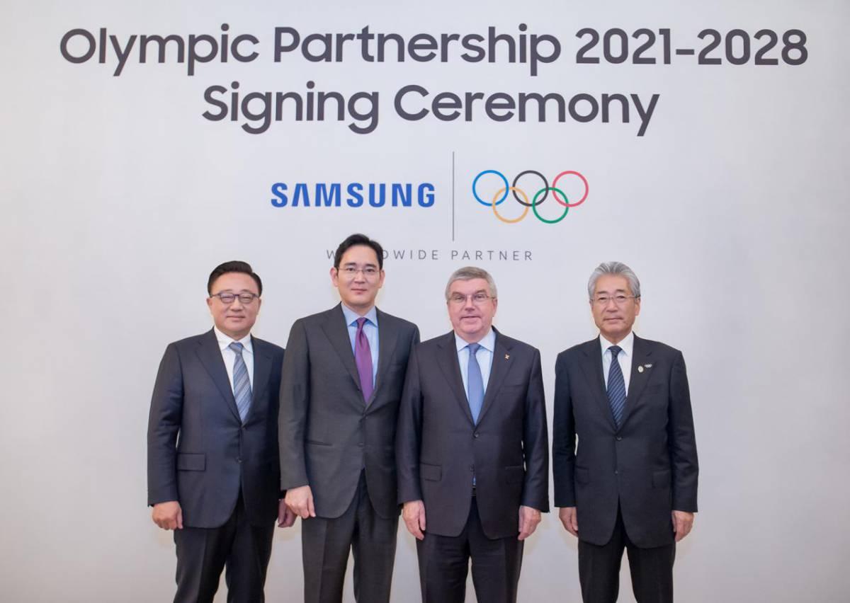 Corp-IOC-and-Samsung-extend-partnership-through-to-2028-Pic تمدید شراکت سامسونگ و المپیک تا سال 2028
