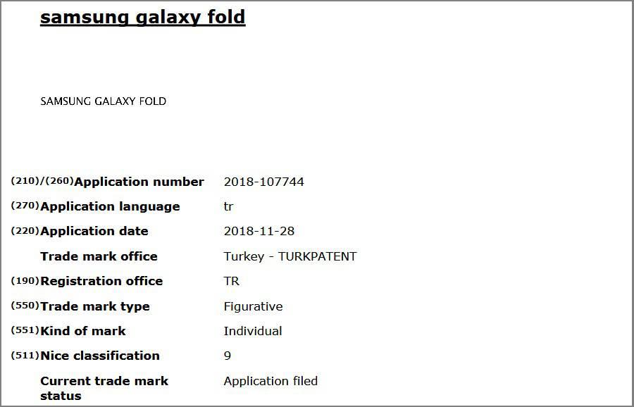 Galaxy-Fold-Trademark سرانجام نام گوشی انعطافپذیر سامسونگ به لطف اسناد ثبت تجاری نامها لو رفت!
