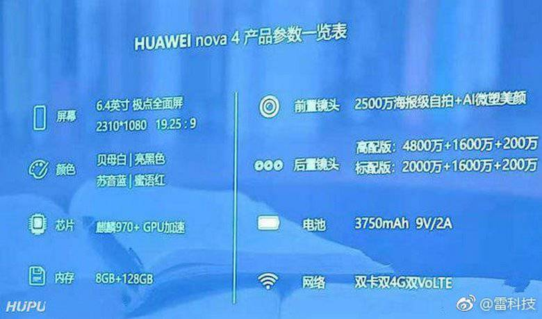 Huawei-Nova-4-Specifications مشخصات کامل گوشی هواوی نوا 4 فاش شد؛ به پرچمدار جدید سلام کنید!