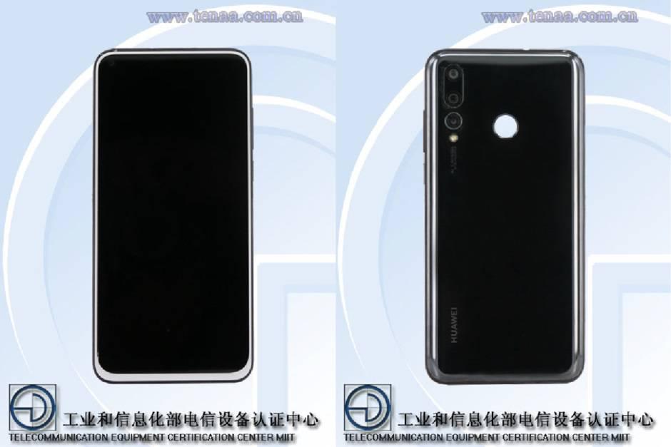 Huawei-Nova-4-gets-certified-with-triple-rear-camera-and-display-hole انتشار نخستین تصاویر واضح از اسمارتفون هواوی نوا 4 با دوربین پشتی سهگانه و نمایشگر حفرهدار