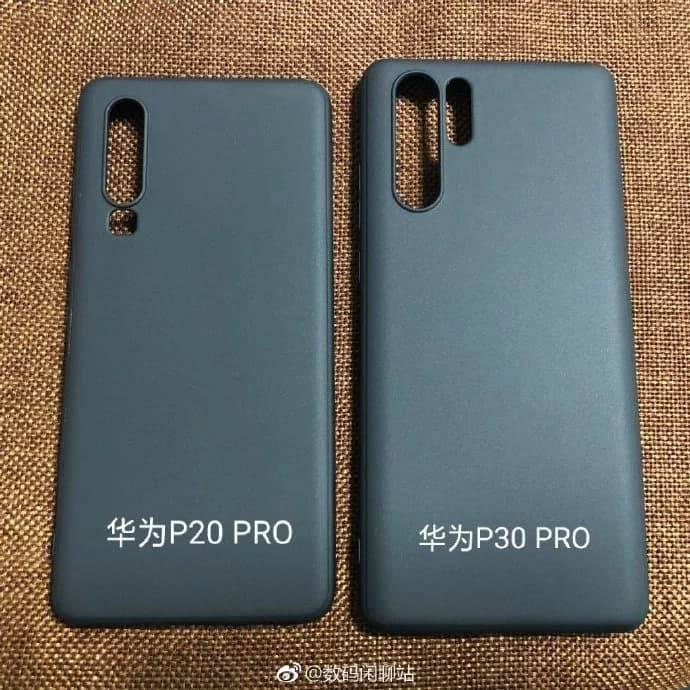 Huawei-P30-Pro-case-3-with-P20-Pro-case تصاویری از قاب گوشیهای P30 و P30 Pro هواوی با دوربین چهارگانه منتشر شد