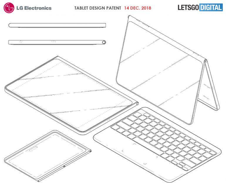 lg-tablet-keyboard-770x631 الجی پتنت مربوط به یک تبلت جدید با کاور و صفحهکلید بیسیم را ثبت کرد