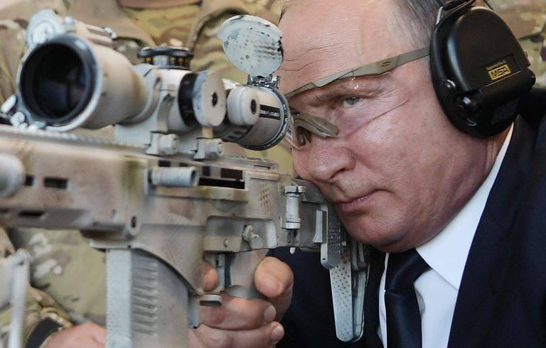 russian-president-vladimir-putin-looks-through-the-scope-as-news-photo-1036297074-1544130334 با مدرنترین تفنگ تک تیراندازی ارتش روسیه آشنا شوید