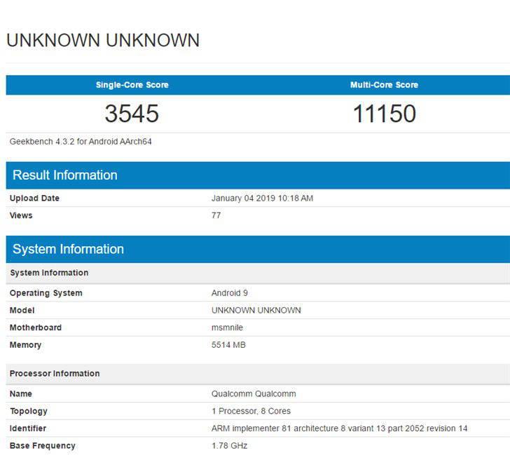 9BB2A85A-6CE4-4248-85B1-2A5EE62BA3AE امتیاز تراشه کوالکام اسنپدراگون 855 در گیکبنچ بهصورت آنلاین منتشر شد