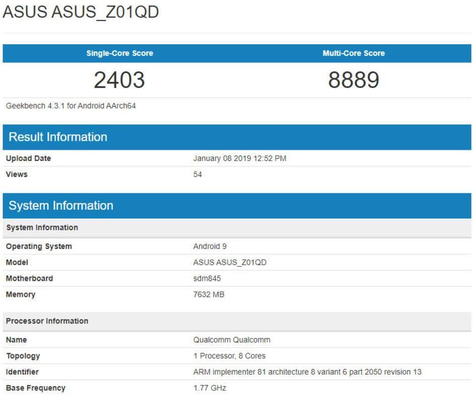 Asus-ROG-Phone-benchmark بهروزرسانی اندروید 9 پای برای گوشی گیمینگ ROG ایسوس در راه است