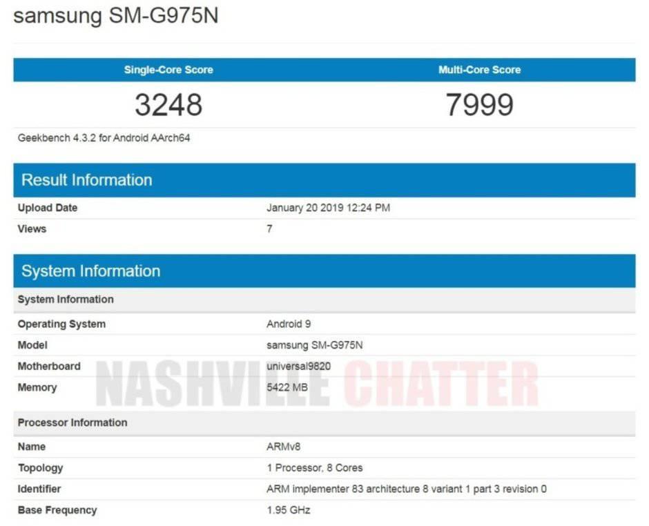 Galaxy-S10-Plus-Exynos-9820 امتیازات بنچمارک نسخه جهانی گلکسی S10 پلاس منتشر شد