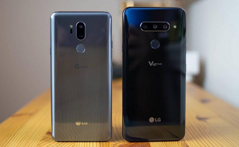 LG-G7-vs-LG-V40-ThinQ-1000x613 چرا بازدهی باتری پرچمداران الجی در سال 2018 راضی کننده نبوده است؟