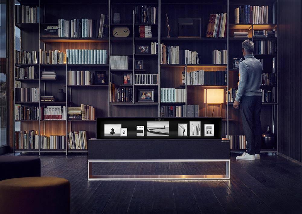 LG-OLED-TV-R-Line-01 اولین تلویزیون OLED رول شونده توسط الجی معرفی شد + تصاویر