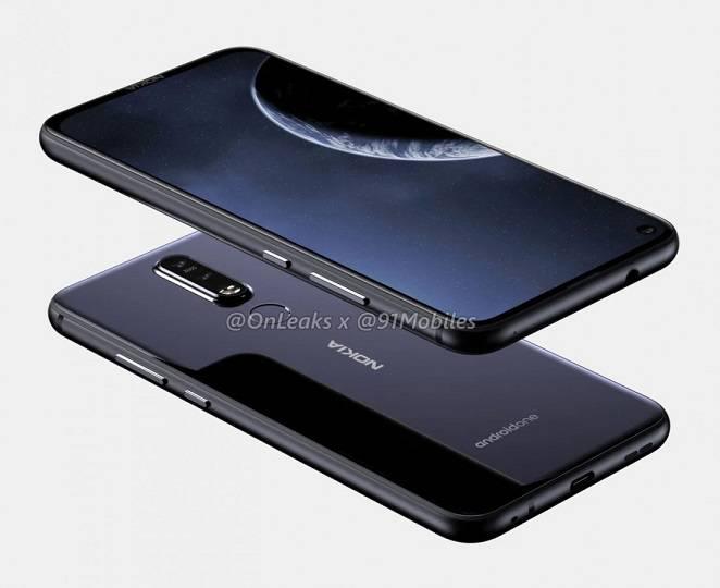 Nokia-8.1-Plus-renders-show-a-punch-hole-camera-2 رندرهای جدید اسمارتفون نوکیا 8.1 پلاس منتشر شد