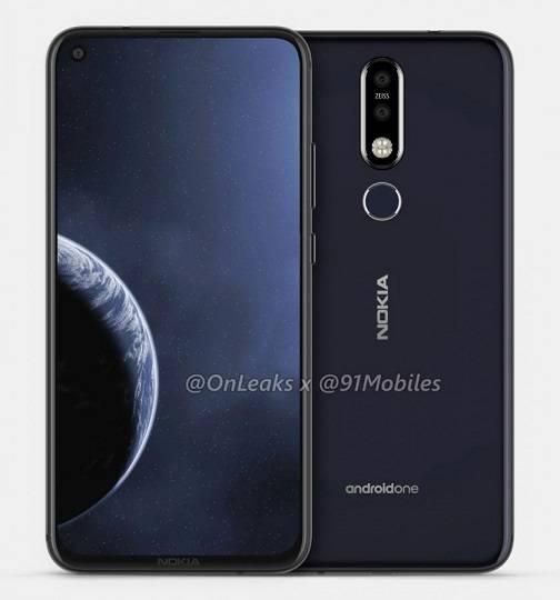 Nokia-8.1-Plus-renders-show-a-punch-hole-camera رندرهای جدید اسمارتفون نوکیا 8.1 پلاس منتشر شد