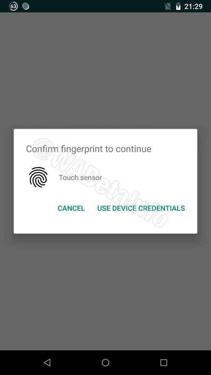 Touch-ID واتساپ برای گوشیهای اندرویدی از قفل با اثرانگشت پشتیبانی میکند