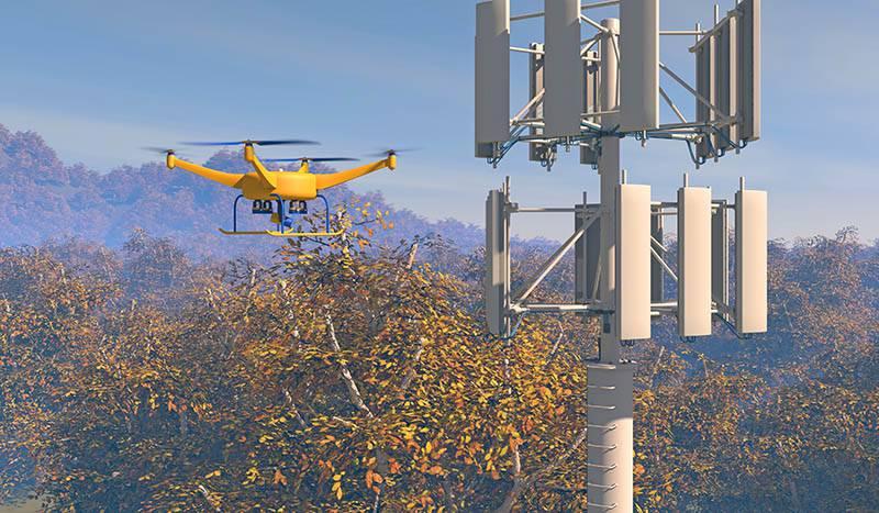 UAV-drone-inspecting-a-cellular-communications-array-517501154_4135x2412 نگاهی به آمار تعداد آنتنهای BTS در کشورهای مختلف و مقایسه با ایران