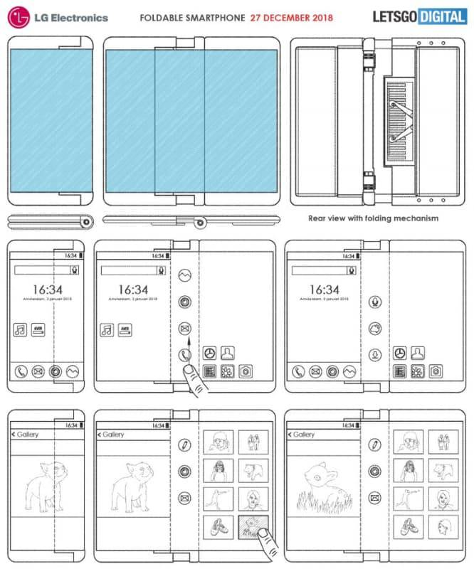 foldable-phone-768x923 پتنت خلاقانه جدیدی از گوشی انعطافپذیر الجی منتشر شد