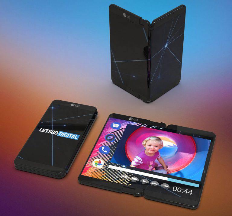 foldable-smartphone-768x715 پتنت خلاقانه جدیدی از گوشی انعطافپذیر الجی منتشر شد