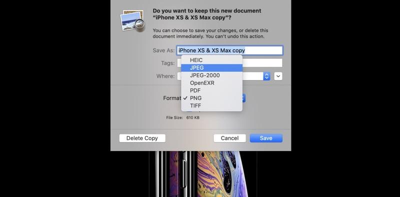 چگونه در مک تصاویر PNG و TIFF را به JPG تبدیل کنیم؟