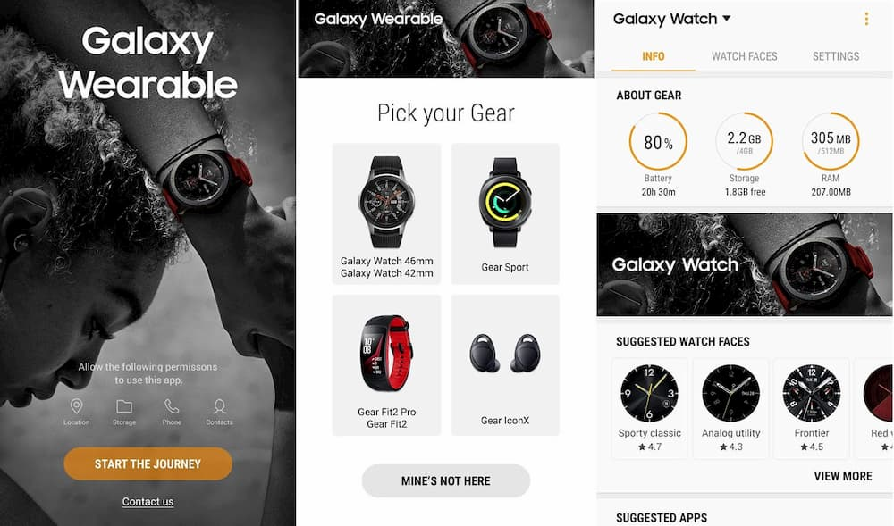 اپلیکیشن Galaxy Wearable