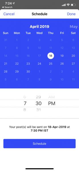 زمانبندی پستها در اینستاگرام