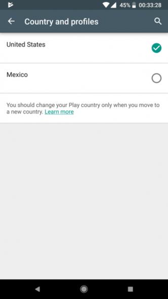 نحوه تغییر کشور در گوگل پلیاستور