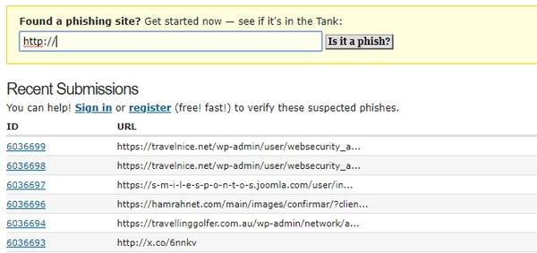 بررسی امنیت لینکها
