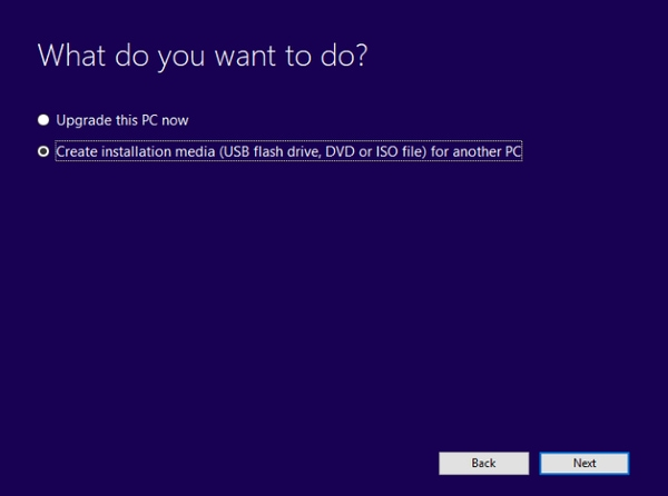 نصب ویندوز 10 از یک یواسبی درایو