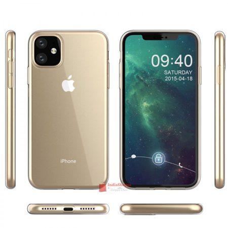 رنگ طلایی رندر iphone XR 2019
