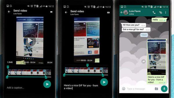 تبدیل ویدیو به Gif با واتساپ