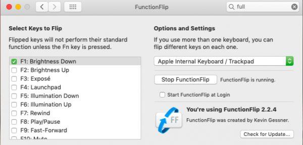 تغییر کاربرد کلیدهای تابع