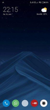 اسکرین شات قابلیت منوی اپلیکیشن