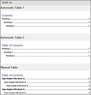 ایجاد و مدیریت یک فهرست مطالب