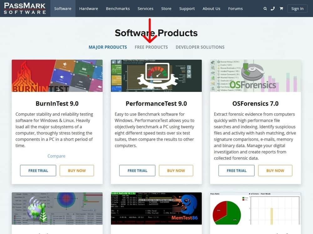 ایمج passmark software