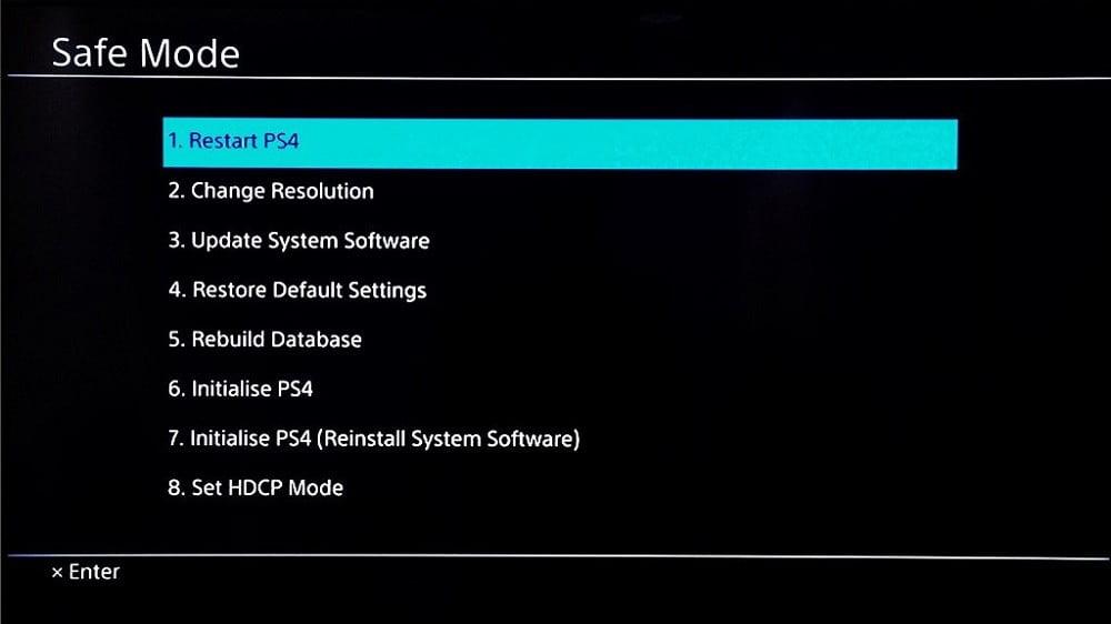 نحوه بازگردانی PS4 به تنظیمات کارخانه