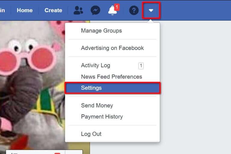 حذف حساب فیسبوک