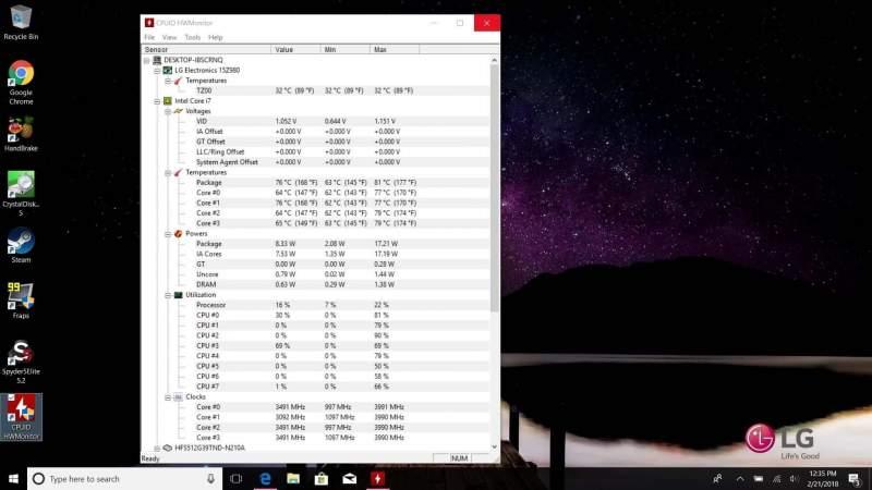 بررسی دمای پردازنده مرکزی