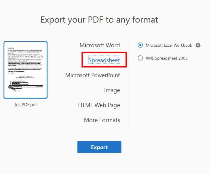 تبدیل pdf به اکسل