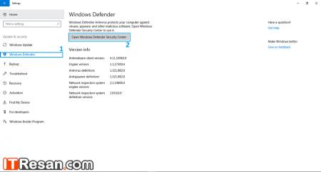 آموزش غیرفعال کردن ویندوز دیفندر در ویندوز 10