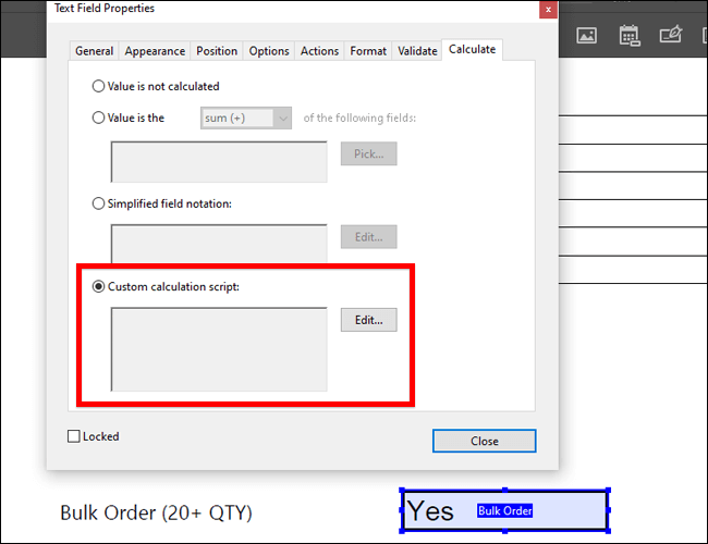 ایجاد فرمولهای شرطی در Adobe Acrobat