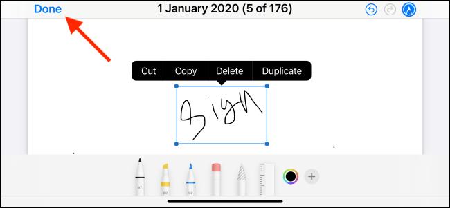 امضا کردن PDF در آیفون