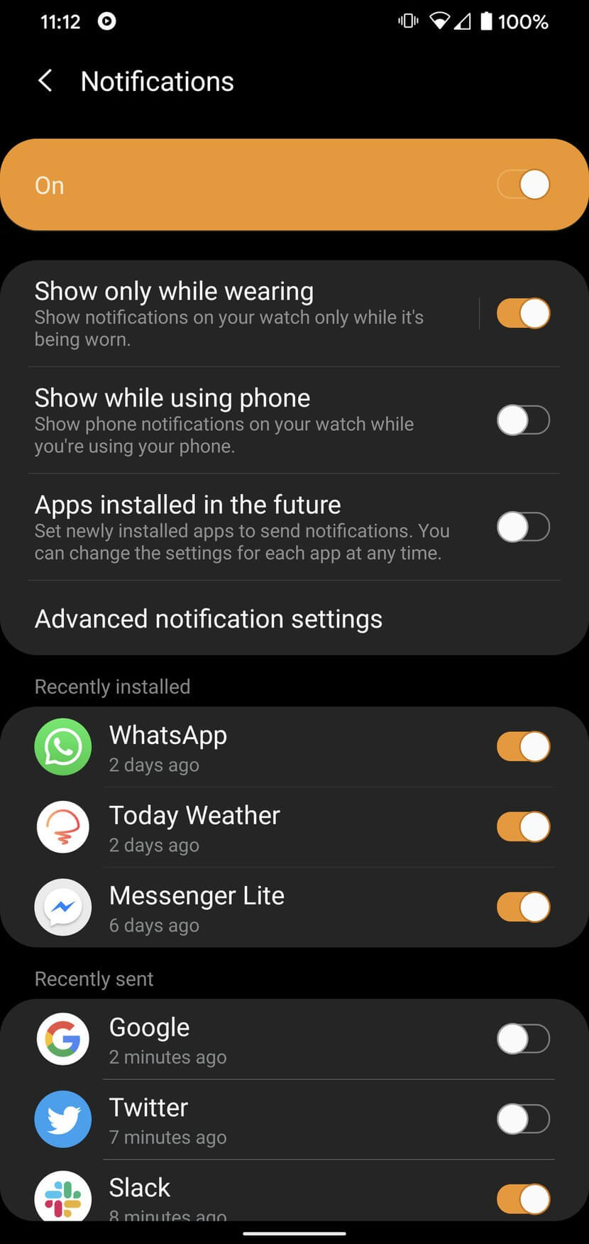 فعال کردن اعلانهای اپلیکیشنها در گلکسی واچ