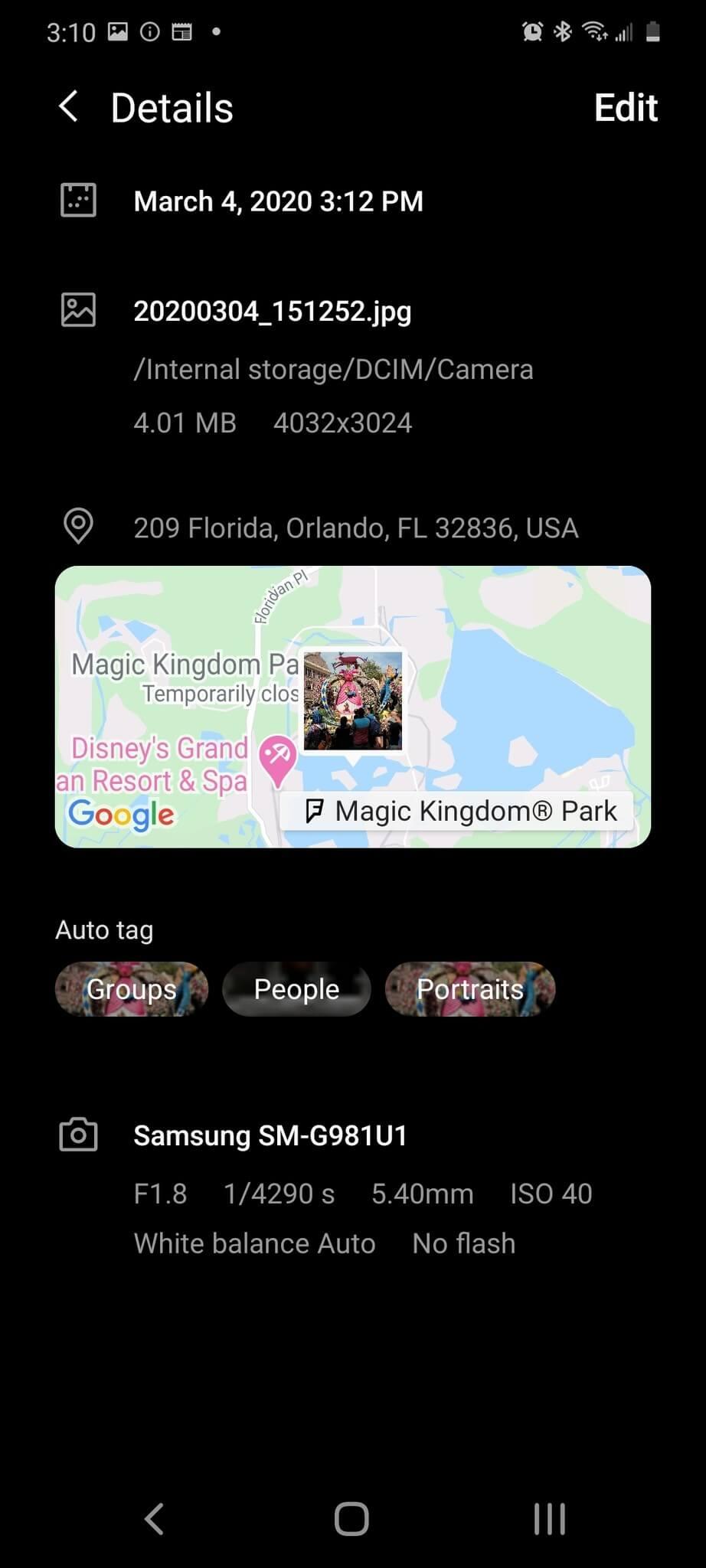 حذف اطلاعات مکانی عکسها در اندروید