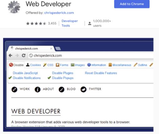 افزونه های کروم برای طراحان وب