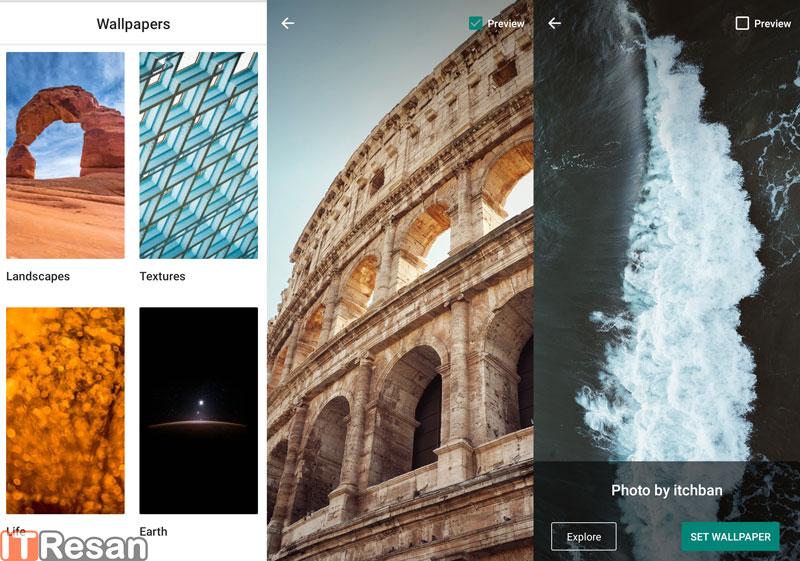 بررسی اپلیکیشن Google Wallpapers: دسترسی سریع به بهترین والپیپرهای دنیا