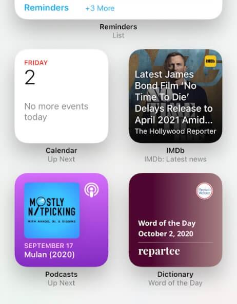 ویجت های iOS 14