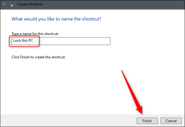 میانبر قفل ویندوز