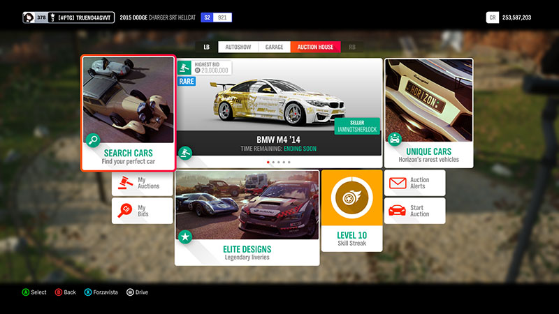 خرید و فروش در Forza Horizon 4