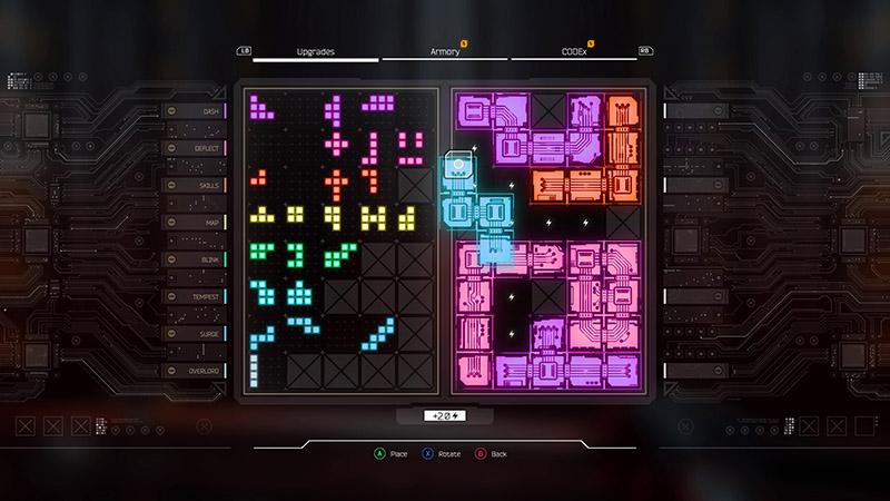 تواناییها با شکلی مانند بازی Tetris