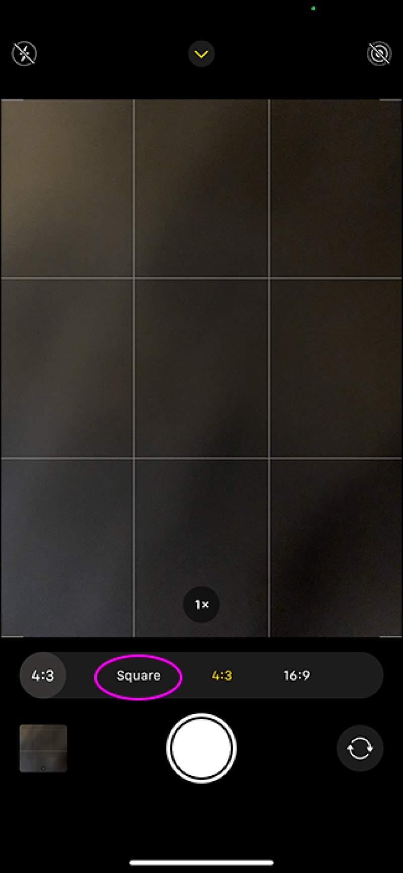 عکس Square در آیفون