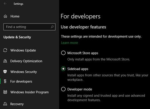 No software installed in Windows 10