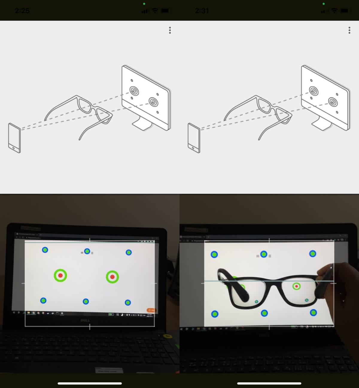 پیدا کردن نمره عینک از طریق خود عینک