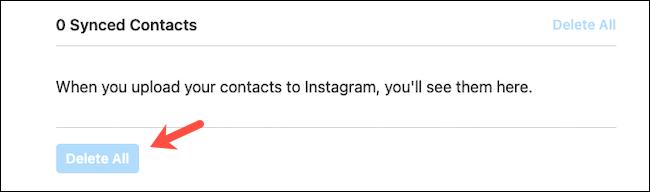 حذف مخاطب در اینستاگرام