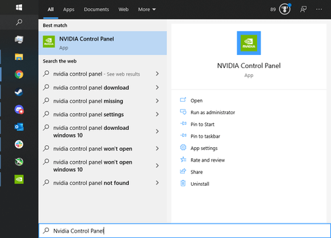 تنظیمات Nvidia Control Panel